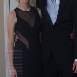 Sheer Black Long Dress